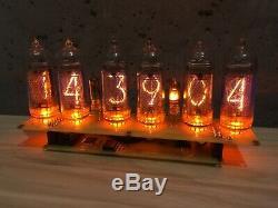 Entièrement Assemblé Horloge De Tube Nixie In14 Includet D'alimentation Avec Calendrier
