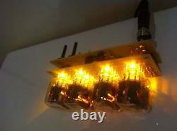 Fedex Assemblé Nixie Tubes Horloge Et Calendrier. Desk Clock Vintage In-12 Cadeau