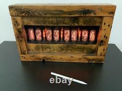 Grande Horloge Nixie In-18 (avec X8 Tubes) (oui Millisecondes)
