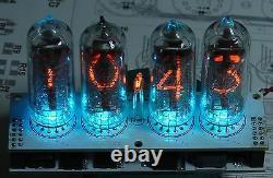 Horloge À Tube Nixie Assemblée V2.3 In-14 Tube Multicolore Rgb Rétroéclairage, Aucun Cas