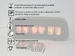Horloge À Tube Nixie Avec In-12 Et Tubes De Boîtier Alarme Télécommande Température