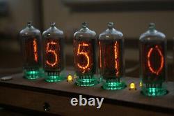 Horloge À Tube Nixie Avec In-8-2 (fine 5) Contreplaqué Bureau Clair À Distance Température Automatique