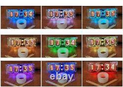 Horloge Avec Tubes Nixie En-12a-12b Dans L'entrepôt USA Tubes De Rétroéclairage À Led Inclus