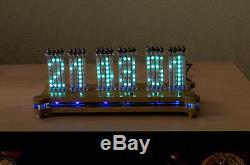 Horloge De Bureau Matricielle À Tubes Anuta Vfd Ivlm-117 Wi-fi + Boîtier + Télécommande Nixie Era