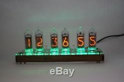Horloge De Tube Nixie Avec In-14 Tubes Et Cas Clair Température À Distance