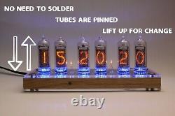 Horloge De Tube Nixie Avec In-8-2 Tubes (fin 5) Desk Table Remote Auto Temperature