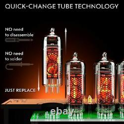 Horloge De Tube Nixie Avec Tubes Remplaçables In-14, Capteur De Mouvement, Effets Visuels