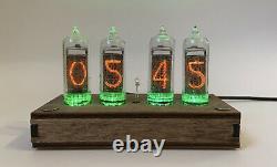 Horloge De Tube Nixie Avec Tubes Sur 14 Cas Différents Calendrier De La Température Automatique
