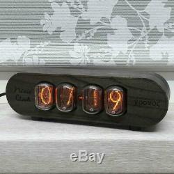 Horloge De Tube Nixie In12 Retrovintage Horloge Cas En Bois Massif Lampe Horloge En Bois Ash