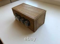 Horloge De Tube Nixie In-12 Retro Vintage Steampunk. Boîtier En Bois. Meilleur Cadeau
