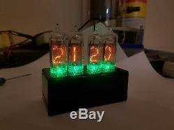 Horloge De Tube Nixie In-14 Avec Rétro-éclairage Rgb