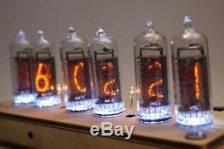 Horloge De Tube Nixie Inclure Dans Les 14 Tubes-et Cru Rétro Cas De Contre-plaqué
