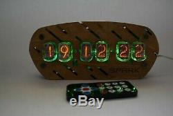 Horloge Du Tube Nixie Avec In-12 Tubes Table De Bureau À Distance Vintage De Température Automatique