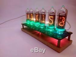 Horloge Du Tube Nixie Comprennent In-14 Tubes Et Support De Table Retro Old School