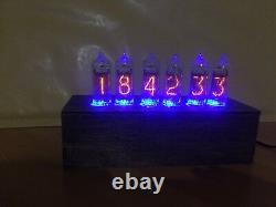 Horloge Du Tube Nixie In-14 Bureau De Table Rvb Rétro Vieille Horloge Vintage Pour Chambre Jtnlab