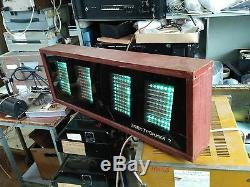 Horloge Elektronika De Bois Énorme Urss Mur Soviétique Nixie Vfd Tube