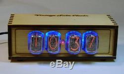 Horloge En Bois Nixie Tube In12, Rétro-éclairage Bleu