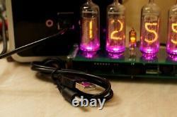 Horloge Nixie 4 Tube Vintage In-14 Thermomètre Rgb Plus