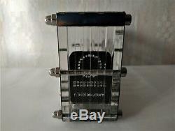 Horloge Nixie Adafruit Glace En Tube Iv-18 Vintage Vacances Vfd Art Horloge De Bureau Steampunk