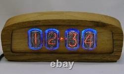 Horloge Nixie En Bois Dans12 Tube, Rétro-éclairage Bleu