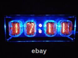 Horloge Nixie In-12 Assemblé Avec Tubes Batterie De Secours D'alimentation Aux États-unis