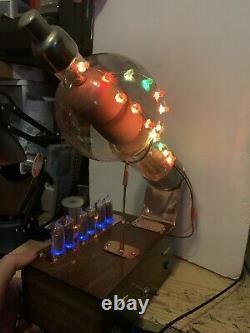 Horloge Nixie In-14 Steampunk. Énorme 15 Rgbs Militaire Jan-869-b Tube. Modèle D'anneau