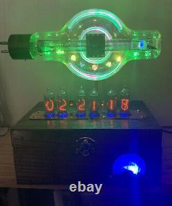 Horloge Nixie In-14 Steampunk. Militaire Westinghouse Jan-cwl-860 Tube. Modèle D'anneau