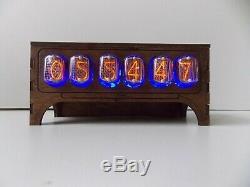 Horloge Nixie Tube Bureau Table In12 Rétro Vieille Horloge Vintage Pour Une Chambre Par Jtnlab