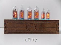 Horloge Nixie Tube In14 + In16 Bureau De Table Rvb Rétro Vieille Horloge Vintage Pour Chambre