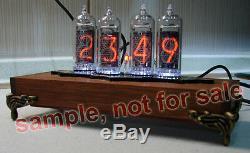Horloge Nixie Tube Kit 2.3 Avec In-14 Tubes En Boîte En Bois Avec Étui De Bricolage En Bois D'aulne