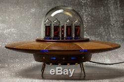Horloge Nixie Tube Tube Style Vintage Ufo In14 In14 Horloge De Bureau Rvb