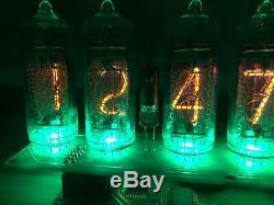 Horloge Nixie Tube (tube 6) In-14 Ambre Adaptateur D'alimentation Inclus Dans Us Calendrier