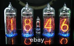 Horloge Nixie / Uhr Mit Vier In-14 Tubes / Röhren Alarme Und Glockenspiel