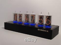Horloge Nixie Unique Avec 6 Tubes Z566m Grands Tubes, Guerre Bleue Steampunk, Guerre Froide In-18