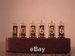 Horloge Nixie Zm1080 Mullard Tubes Caisse En Bois Jewel Série Monjibox