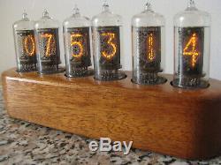 Horloge Nixie Zm1080 Mullard Tubes Caisse En Bois Série Jewel