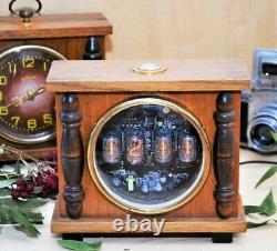 Horloge Numérique D'alarme Nixie Tube, Époque Soviétique, Véritable Boîtier Vintage