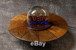 Horloge Tube Nixie Tube Style Vintage Ufo Dans 14 In14 Horloge De Bureau Rvb