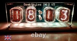 Horloge Usb In12a Nixie Complète Avec Tubes Ukraine Originaux