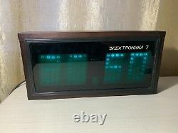 Horloge Vintage En Bois Elektronika 7 Soviet Digital Nixie Tube Wall Watch Urss