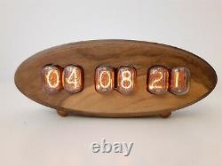 In12 Tubes Nixie Uhr Horloge Beau Boîtier Walnut Par Monjibox