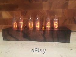 In14 Horloge Tube Nixie Orange Cadeau Vintage Frais Très Bonne Horloge Cadeau De Noël