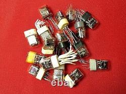 In17 In17 -17 Micro Tube D'affichage Nixie Ussr De Cru D'horloge Utilisé 100pcs Testes