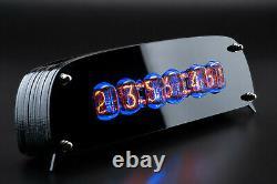 In-12 Arduino Shield Nixie Tubes Horloge En Acrylique Noir Élégant Cas Gra&afch