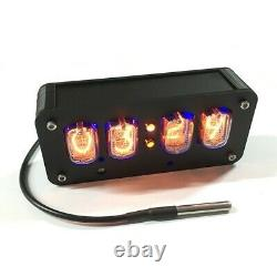 In-12 Nixie Clock 4-digit Nixie Tube Clock Time Date Temperature Auto Switching #