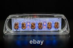 In-12 Nixie Tubes Clock In Acrylic Case 12/24h Slotmachine With Sockets Gra&afch