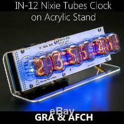 In-12 Tubes Nixie Horloge En Acrylique Stand Avec Douilles Avec Les Options