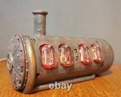 In-12 Tubes Nixie Steampunk Horloge
