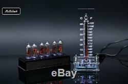 In-14 Nixie Tube Clock Assemblage En Bois Et Adaptateur 6 Tubes De Millclock