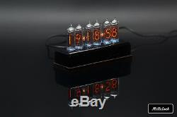 In-14 Nixie Tube Clock Assemblé Acrylique Enceinte Adapter 6 Tubes Par Millclock